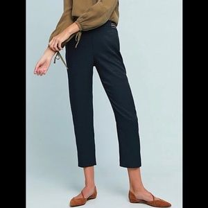 Anthropologie Essential Pull On Trouser Blue Large
